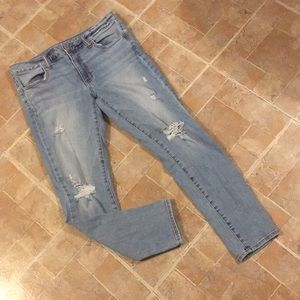 American Eagle mid rise distressed ankle jeggings